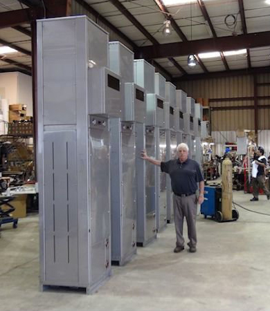 Air-cooled Chillers used for Oil Drilling Rigs, Hydraulic Fracking seen here with Joseph Baruch