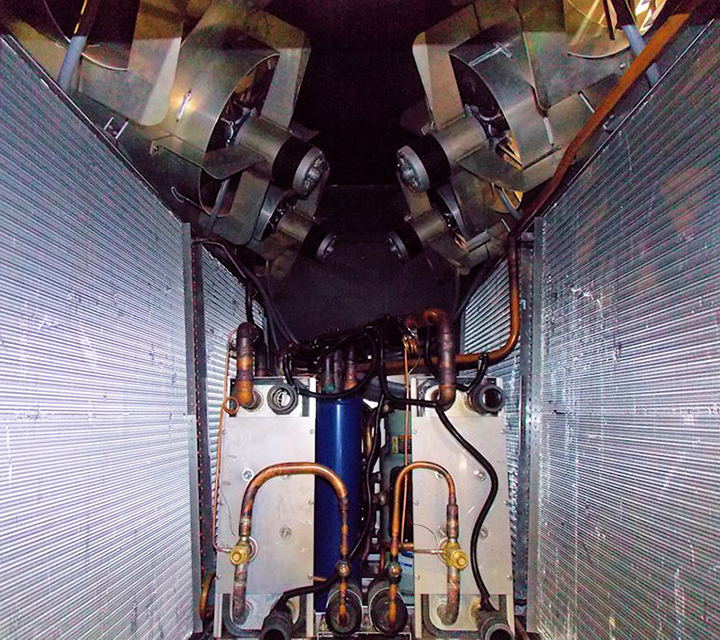Portable Air Cooled Chiller (inside)