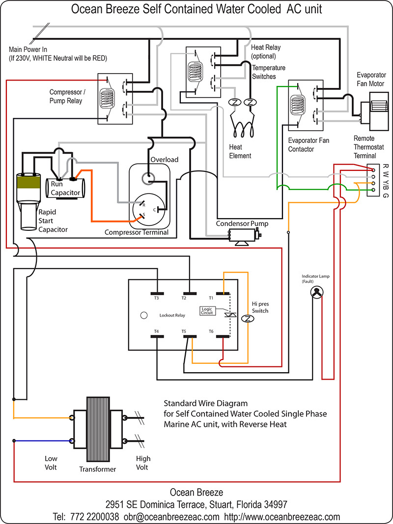 Basic Wire Diagrams/Schematics: 6,000 to 18,000 BTU