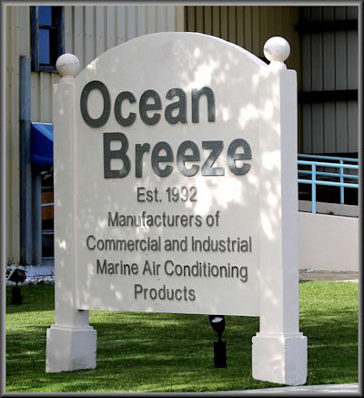 Ocean Breeze, Est. 1992, Manufacturers of Commercial and Industrial Marine Air Conditioning Products