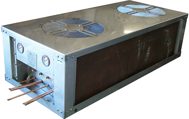 60,000 BTU dual-compressor air-cooled condenser designed for Motor Coaches, Buses, and RVs.