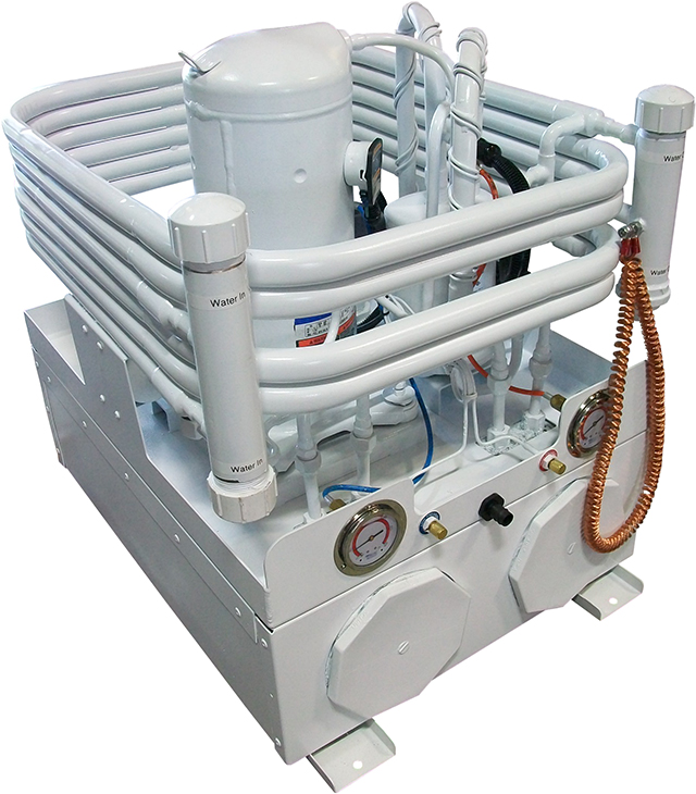 Seawater-cooled Chiller with Cleanable Titanium Evaporator for Seafood or Aquarium Applications