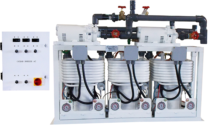 Custom-made 15 Ton Triple Chiller Assembly (front)